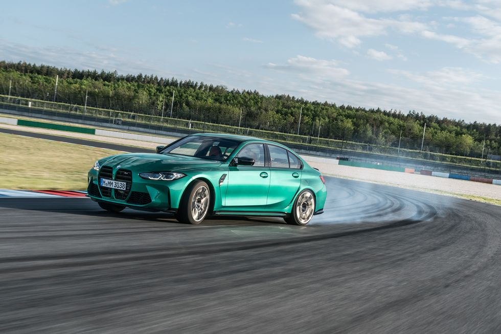 2021 BMW M3 Drifting