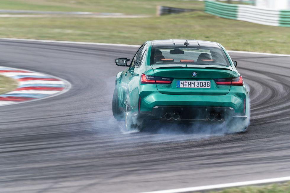 2021 BMW M3 Competition Drifting