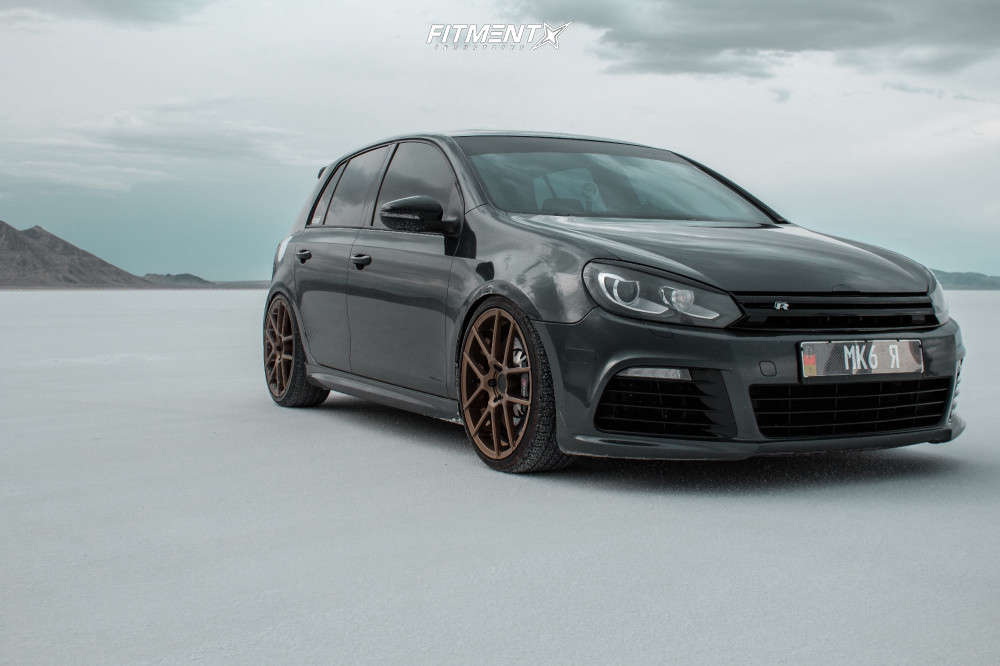 Front shot of a 2012 VOLKSWAGEN GOLF R BASE running Avant Garde M510, Toyo Tires Proxes Sport A/s, and Raceland Coilovers