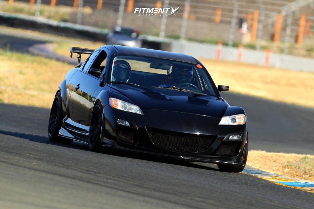 2009 MAZDA RX-8 R3 running Advan Racing Rs-df Progressive wheels, Toyo Tires Proxes R888r , and Ohlins Coilovers