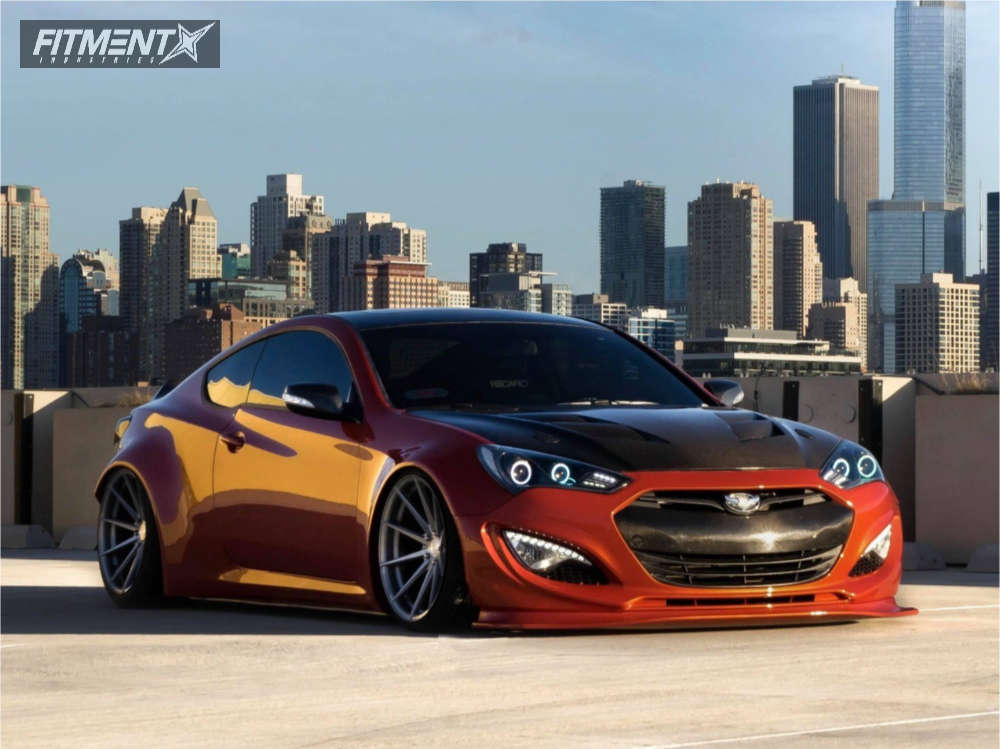 2016 HYUNDAI GENESIS COUPE 3.8 ULTIMATE with Rohana Rf1 wheels, BFGoodrich tires, and Air Lift Performance Air Suspension