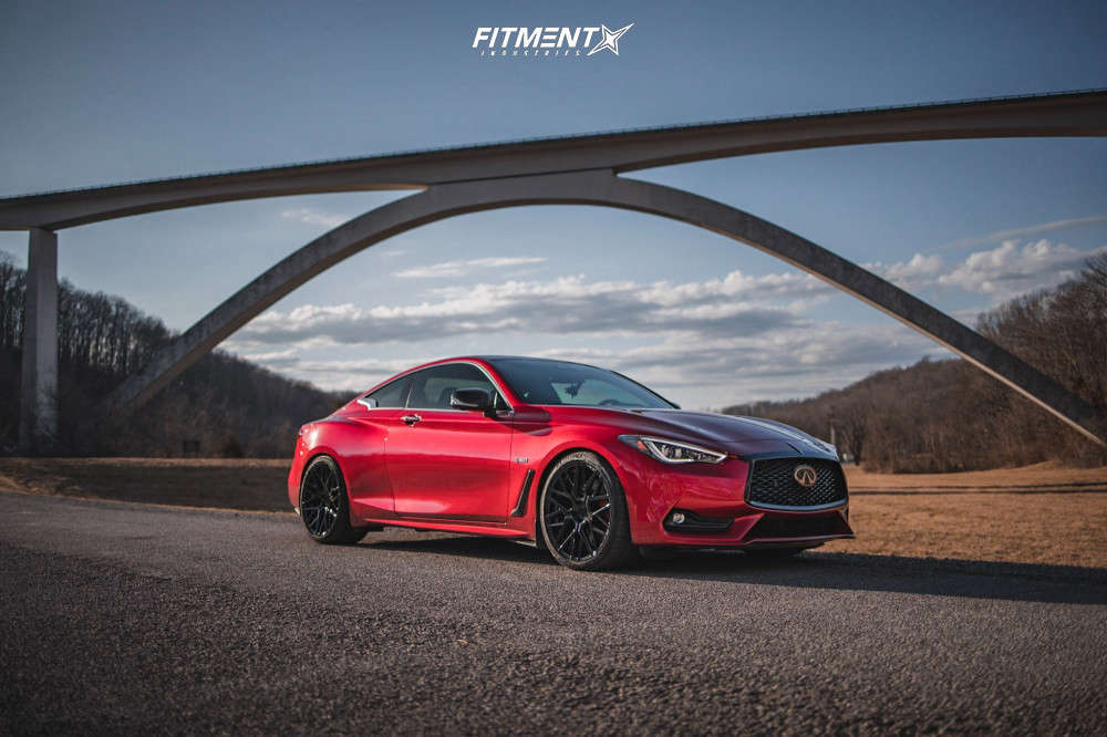 2020 INFINITI Q60 RED SPORT 400 with Rohana Rfx10, Michelin Pilot Sport 4 S, and RSR Coilovers