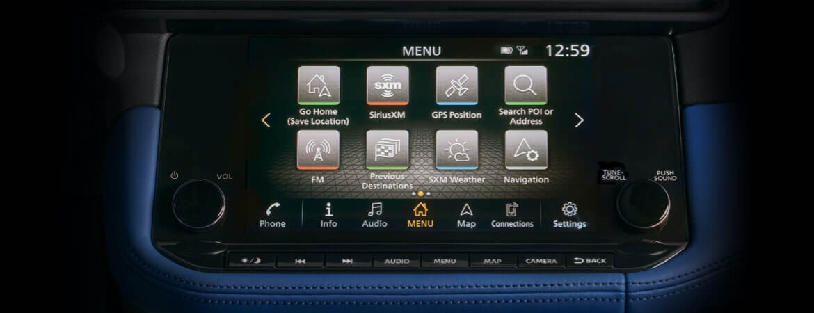 The updated tech center in the all-new Nissan Z