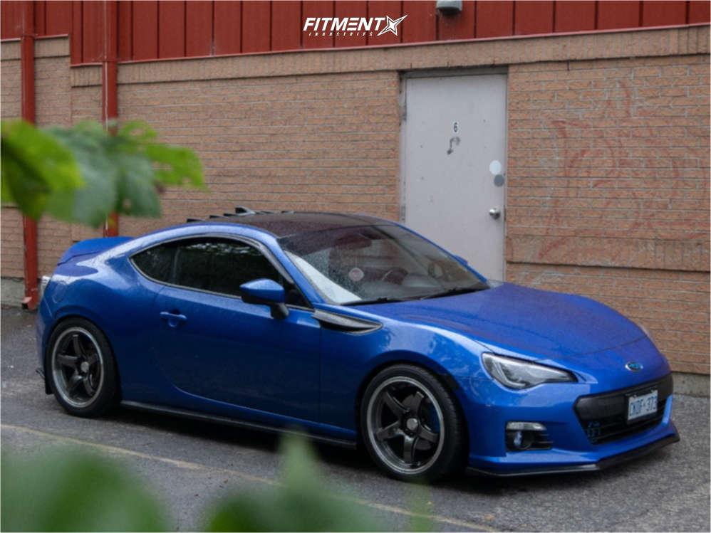 Blue 2015 Subaru BRZ Sport-tech with XXR wheels, Yokohama Avid Envigor tires, and Tein coilovers