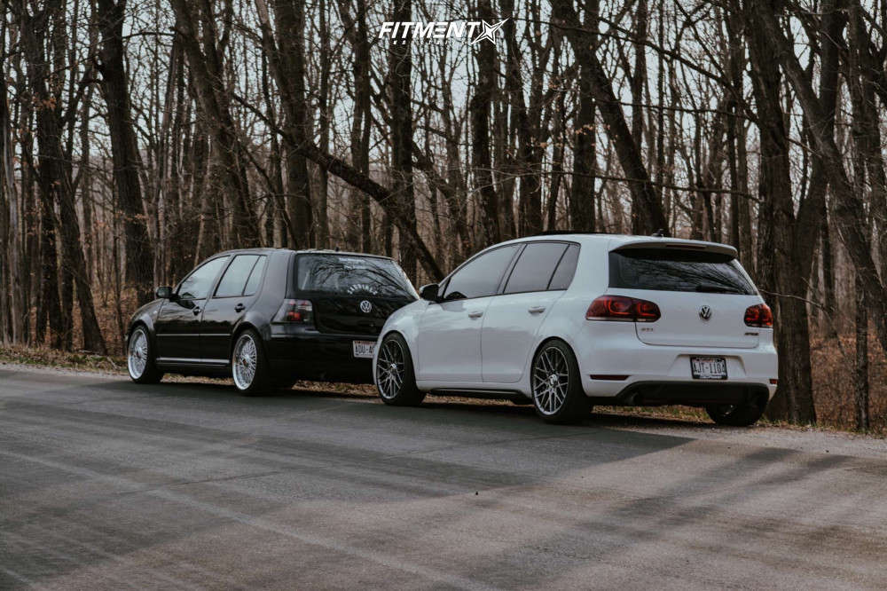 2014 VOLKSWAGEN GTI WOLFSBURG EDITION with Rotiform wheels, Federal SS595 tires, and BC Racing coilovers