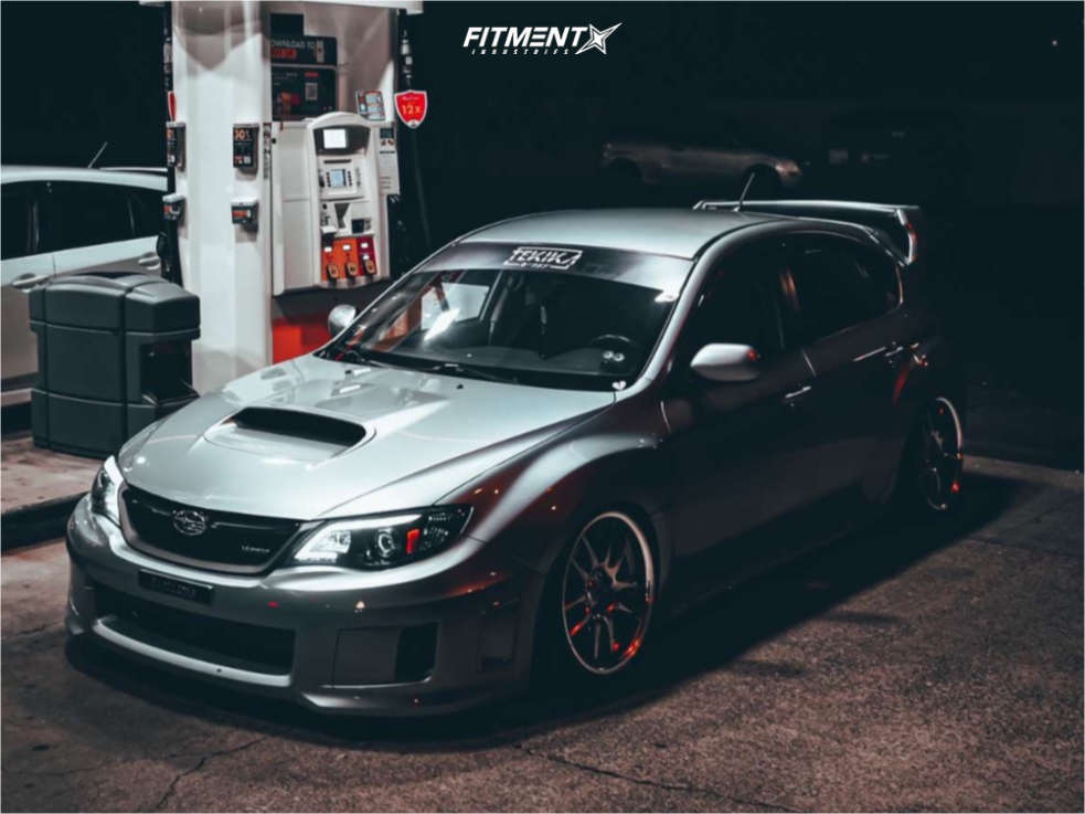 2012 SUBARU IMPREZA WRX LIMITED Work Emotion CR wheels, Federal SS595 tires, and Fortune Auto coilovers