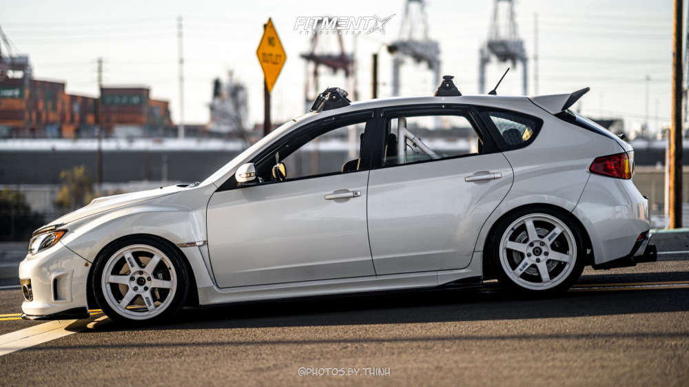 2010 Subaru WRX STI Base with Volk TE37rt wheels, Federal SS595, and BC Racing Coilovers