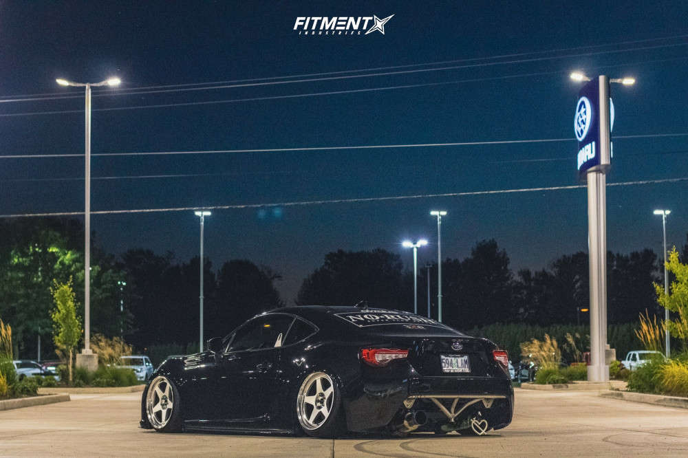 Black 2016 Subaru BRZ Premium with the Kansei KNP 18x9.5 +22mm with the Nitto Neo Gen and air lift suspension