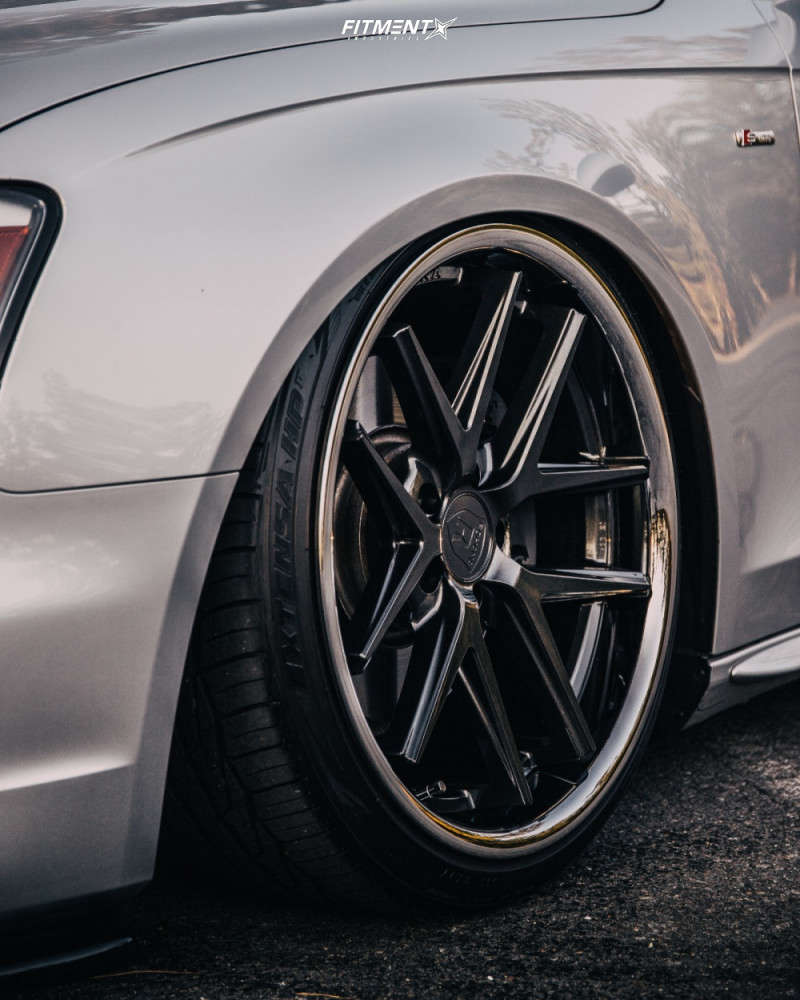 Up close and personal with the Rohana RC9 on a Silver 2014 Audi A4 Quattro